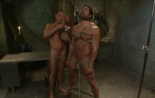 Muscled Army Man Tied And Punished