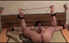 Bound and gagged for extreme gay fun