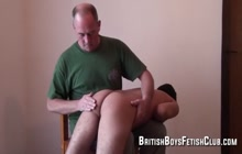 Young twink ass spanked by master daddy