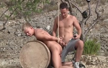 Chris gets bent over a barrel for Luke's satisfaction
