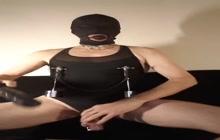 Kinky nipple stretching masoslut